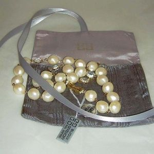 """GIVENCHY Crystal Faux Baroque Pearl 24"""" Necklace"""